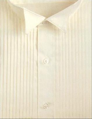 Wingtip Pleated Ivory Tuxedo Shirt - Tuxedo Club