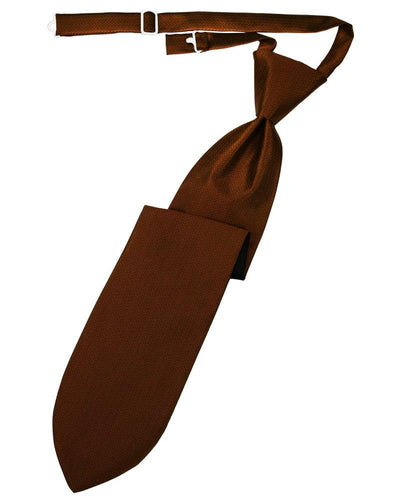 Cinnamon Herringbone Long Tie - Tuxedo Club