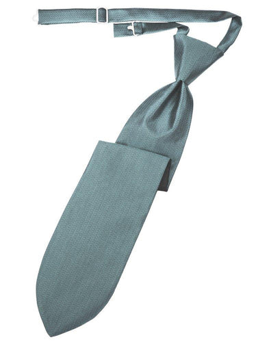 Cloudy Herringbone Long Tie - Tuxedo Club