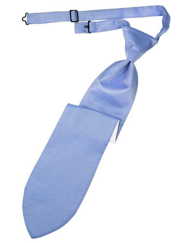 Cornflower Herringbone Long Tie - Tuxedo Club