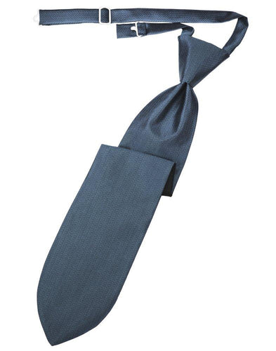 Desert Blue Herringbone Long Tie - Tuxedo Club