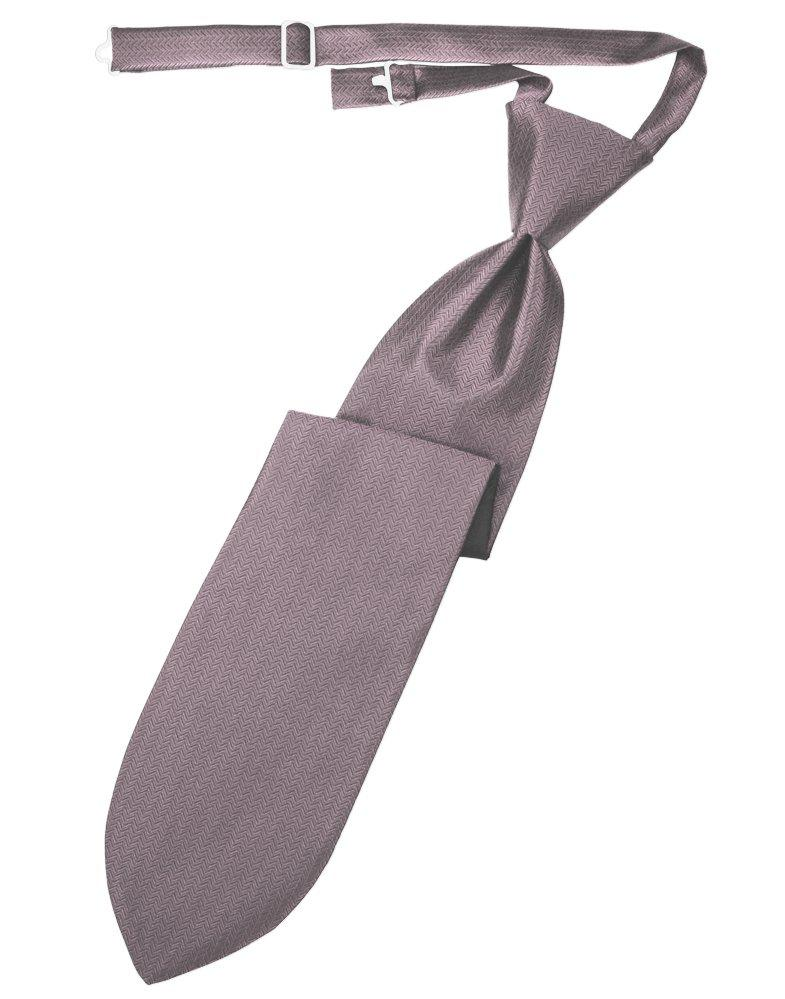 Frosty Pink Herringbone Long Tie - Tuxedo Club