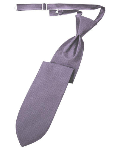 Heather Herringbone Long Tie - Tuxedo Club