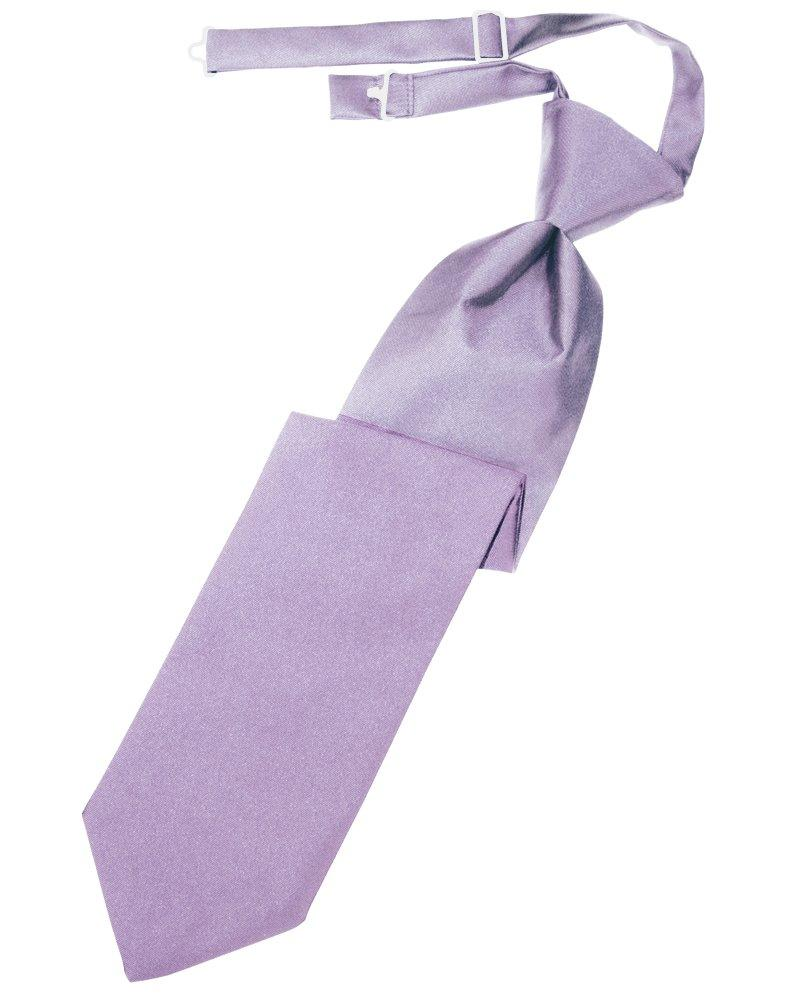 Heather Solid Satin Long Tie - Tuxedo Club