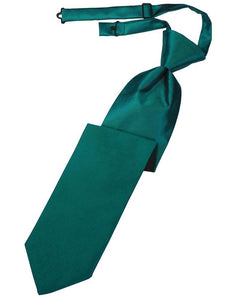 Jade Solid Satin Long Tie - Tuxedo Club