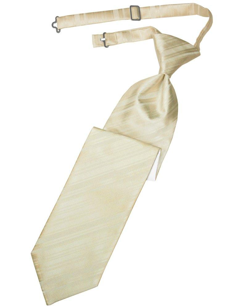 Bamboo Striped Satin Long Tie - Tuxedo Club