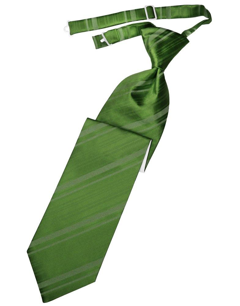 Clover Striped Satin Long Tie - Tuxedo Club