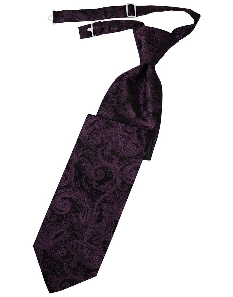 Berry Tapestry Long Tie - Tuxedo Club