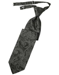 Charcoal Tapestry Long Tie - Tuxedo Club