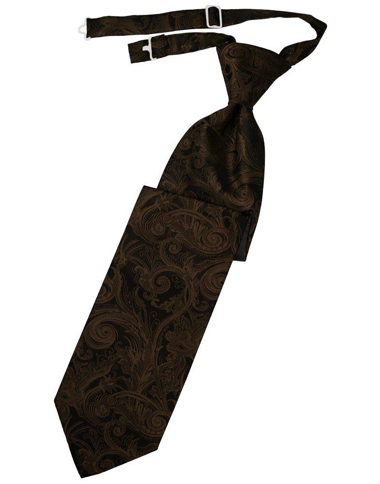 Chocolate Tapestry Long Tie - Tuxedo Club