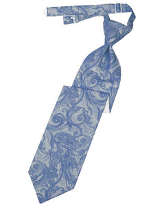 Cornflower Tapestry Long Tie - Tuxedo Club