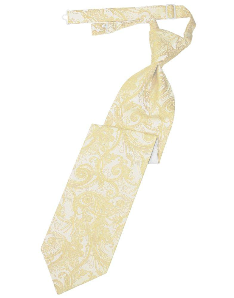Golden Tapestry Long Tie - Tuxedo Club