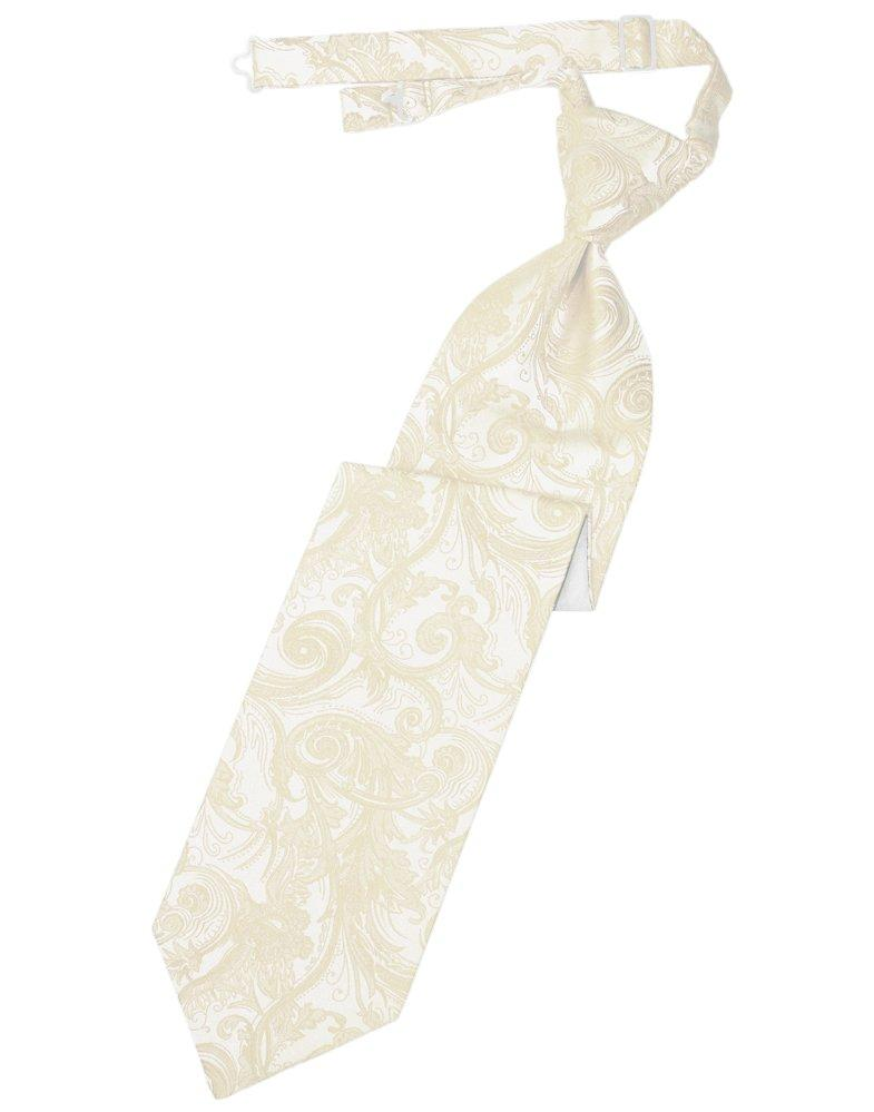 Ivory Tapestry Long Tie - Tuxedo Club