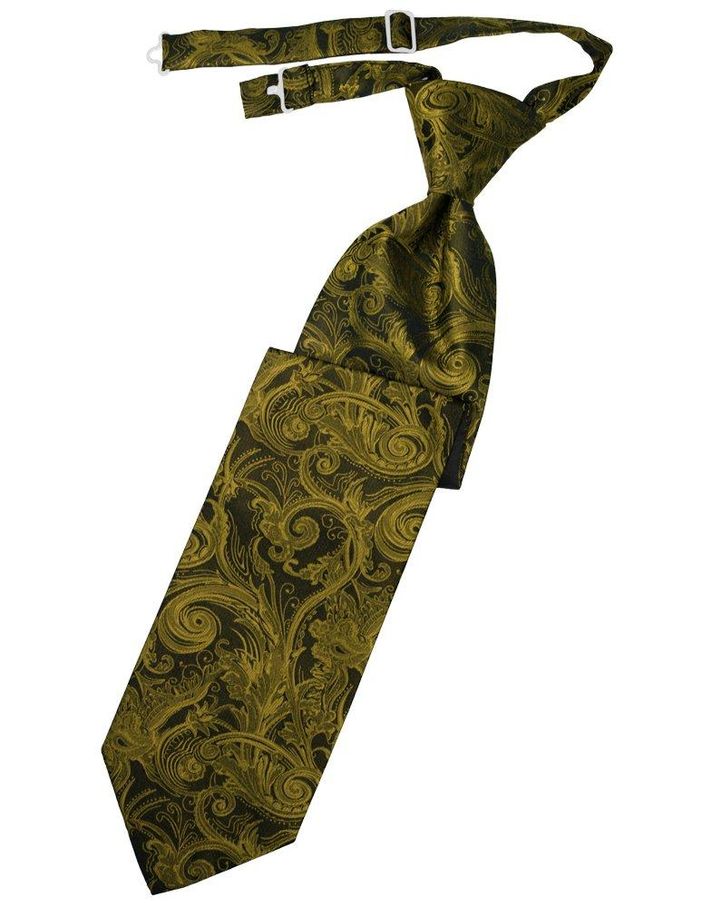New Gold Tapestry Long Tie - Tuxedo Club