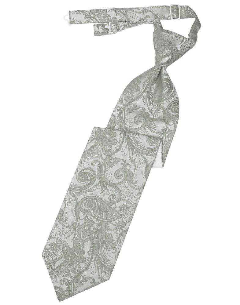 Platinum Tapestry Long Tie - Tuxedo Club