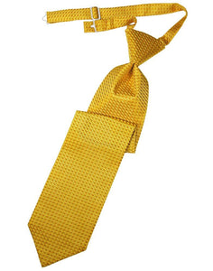 Gold Venetian Long Tie - Tuxedo Club