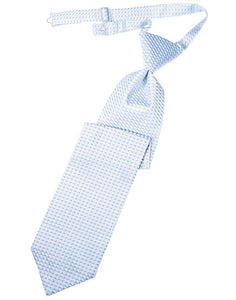 Powder Blue Venetian Long Tie - Tuxedo Club