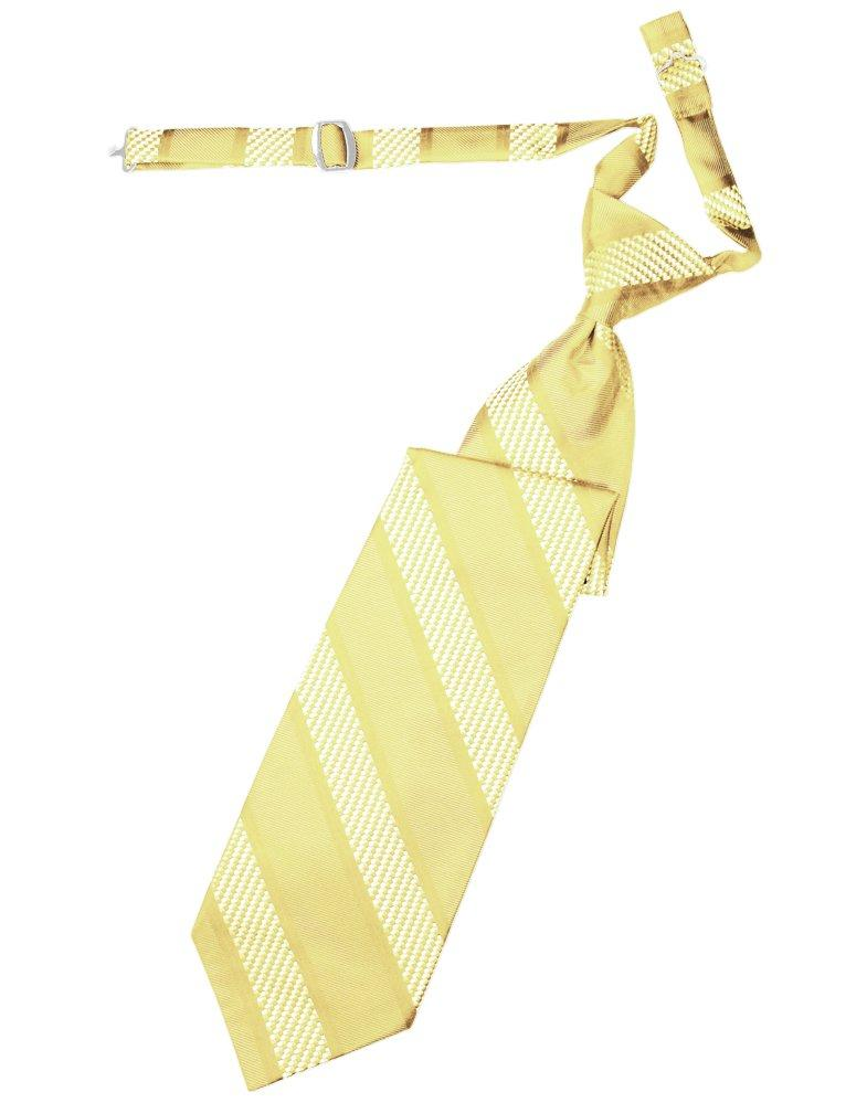 Buttercup Venetian Stripe Long Tie - Tuxedo Club