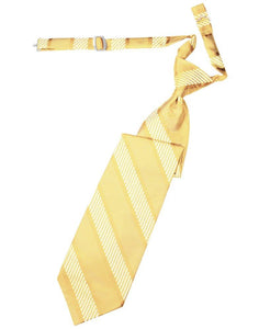 Harvest Maize Venetian Stripe Long Tie - Tuxedo Club