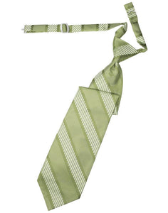 Mint Venetian Stripe Long Tie - Tuxedo Club