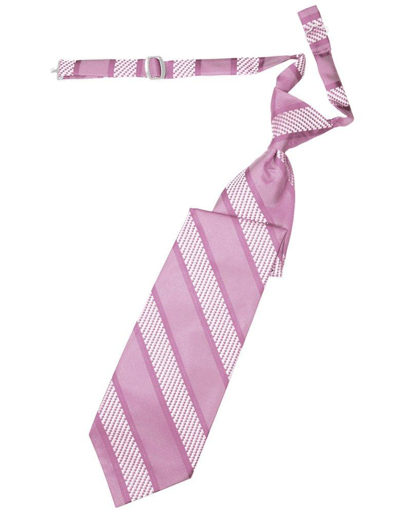 Rose Venetian Stripe Long Tie - Tuxedo Club