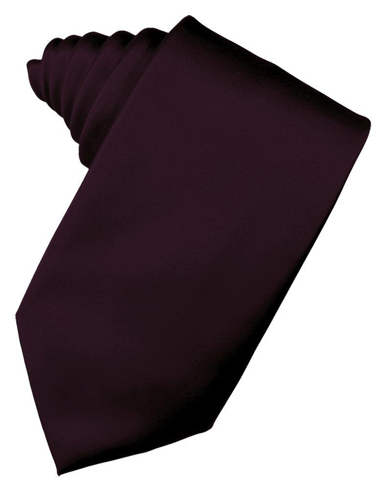 Berry Solid Satin Suit Tie - Tuxedo Club