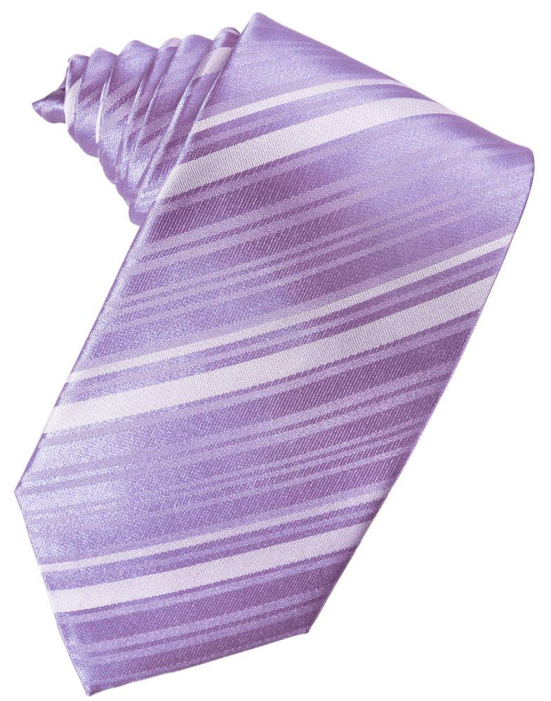 Wisteria Striped Satin Suit Tie - Tuxedo Club