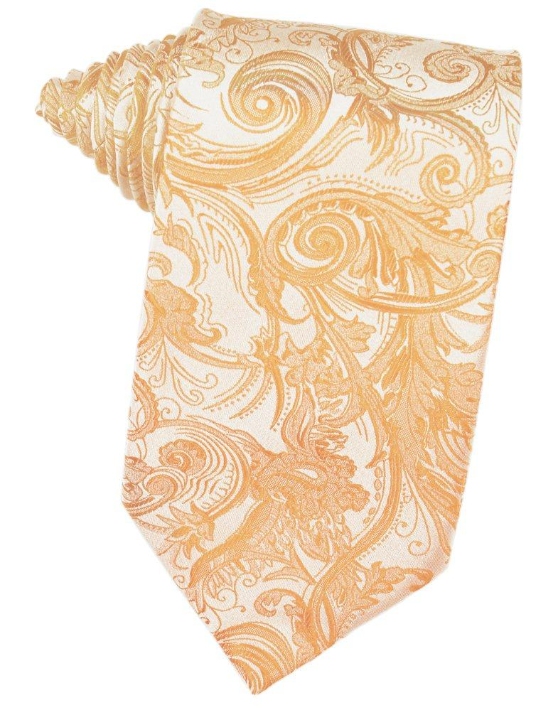Apricot Tapestry Suit Tie - Tuxedo Club