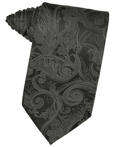 Charcoal Tapestry Suit Tie - Tuxedo Club