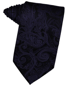 Midnight Blue Tapestry Suit Tie - Tuxedo Club