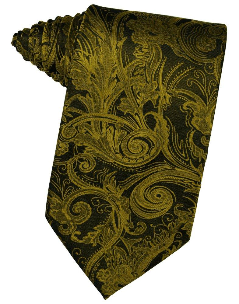 New Gold Tapestry Suit Tie - Tuxedo Club