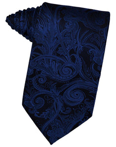 Royal Blue Tapestry Suit Tie - Tuxedo Club