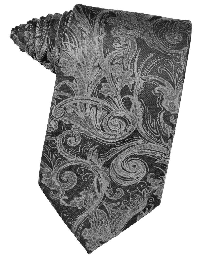 Silver Tapestry Suit Tie - Tuxedo Club