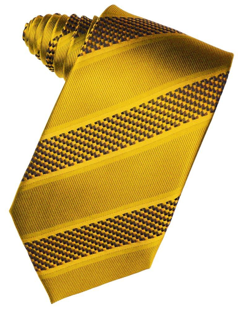 Gold Venetian Stripe Suit Tie - Tuxedo Club