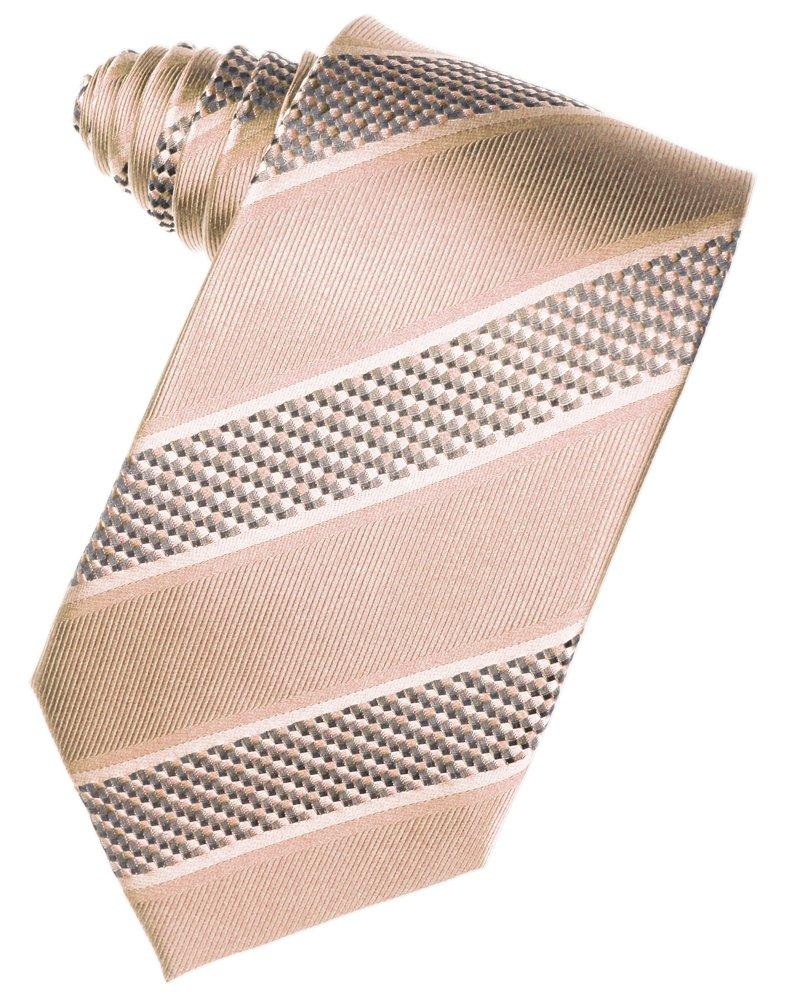 Peach Venetian Stripe Suit Tie - Tuxedo Club