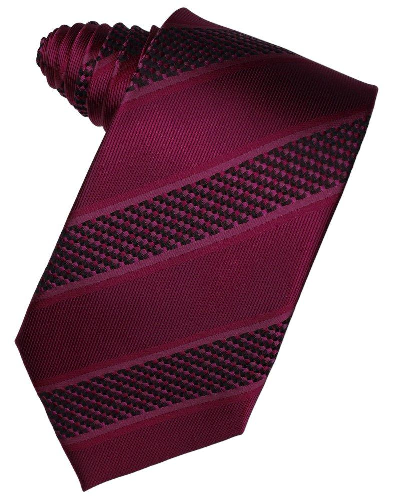 Wine Venetian Stripe Suit Tie - Tuxedo Club