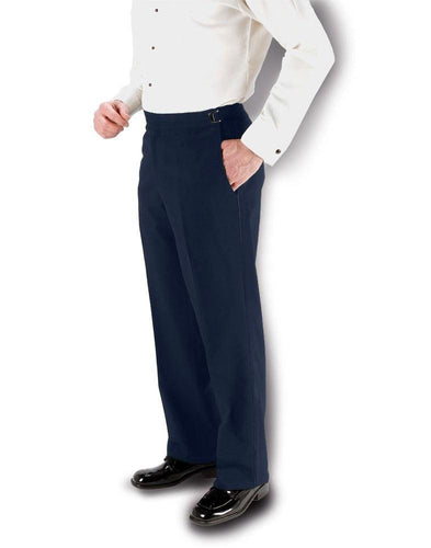 Fitzgerald Navy Super 150's Slim-Fit Flat Front Tuxedo Pants - Tuxedo Club