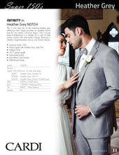 Load image into Gallery viewer, 'Infinity' Heather Grey 2-Button Notch Tuxedo - Tuxedo Club