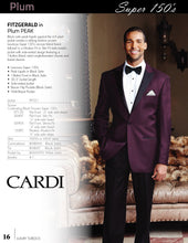 Load image into Gallery viewer, 'Fitzgerald' Plum 1-Button Peak Tuxedo - Tuxedo Club