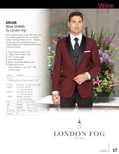 Load image into Gallery viewer, 'Arlan Shawl' Wine 1-Button Shawl Tuxedo - Tuxedo Club