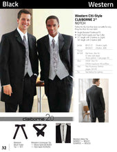 Load image into Gallery viewer, 'Western 31/3' Black 3-Button Notch Tuxedo - Tuxedo Club