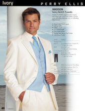 Load image into Gallery viewer, 'Madison' Ivory 2-Button Notch Tuxedo - Tuxedo Club