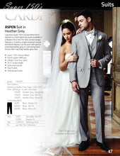 Load image into Gallery viewer, 'Aspen' Heather Grey 2-Button Notch Suit - Super 150 - Tuxedo Club