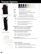 Load image into Gallery viewer, Black 120's Flat Front Tuxedo Pants - Tuxedo Club