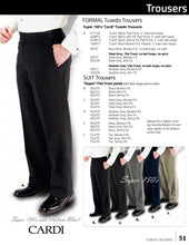 Load image into Gallery viewer, Black 150's Flat Front Suit Pants - Tuxedo Club