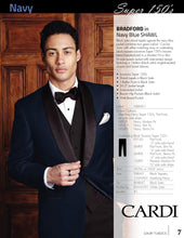 Load image into Gallery viewer, 'Bradford' Navy 1-Button Shawl Tuxedo - Super 150 - Tuxedo Club
