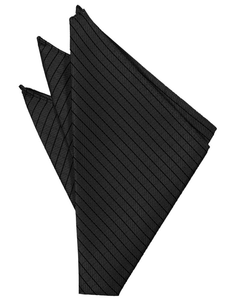 Black Palermo Pocket Square - Tuxedo Club