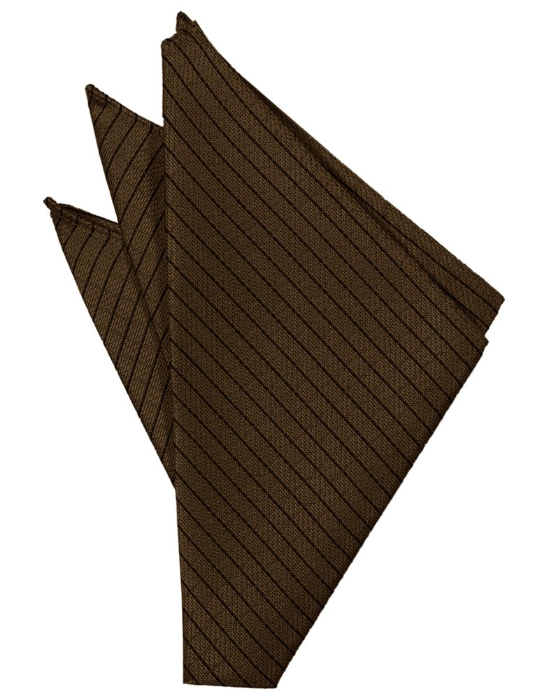 Chocolate Palermo Pocket Square - Tuxedo Club