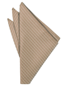 Latte Palermo Pocket Square - Tuxedo Club