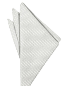 Platinum Palermo Pocket Square - Tuxedo Club